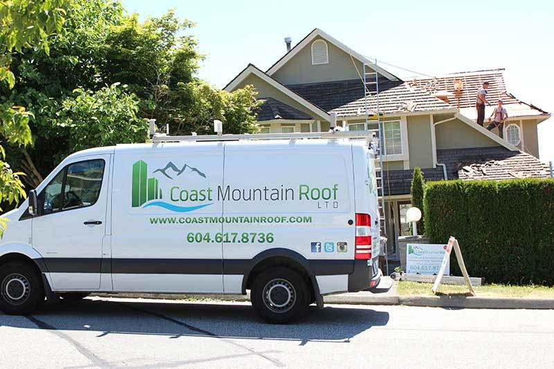 coast mountain roof roofing company truck