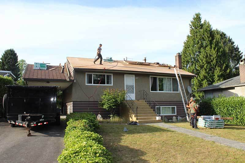 Vancouver bungalow home roofing