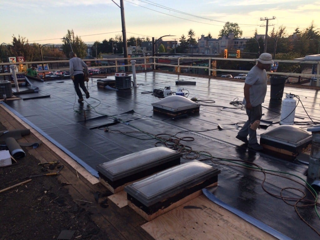 Commercial re roofing project
