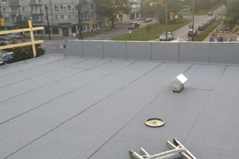 newly installed flat roof