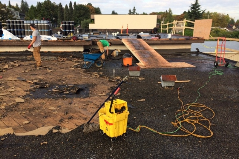 flat roof stripping and installation
