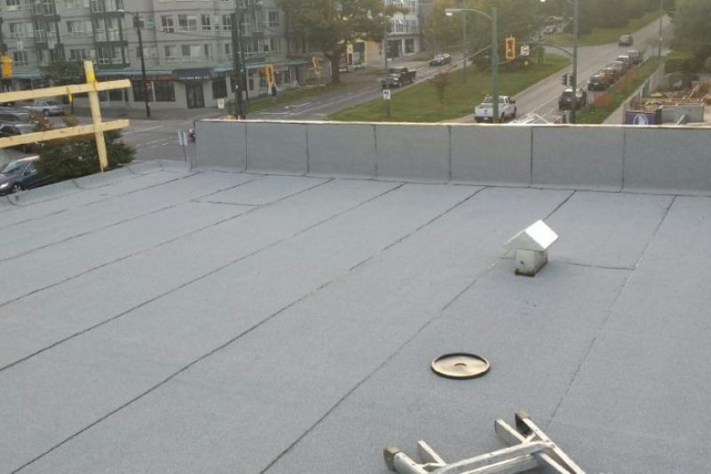 flat roof after picture