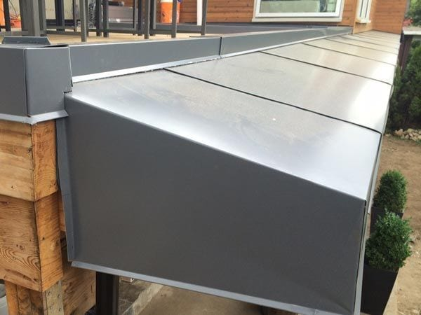 custom roof metal cladding awning