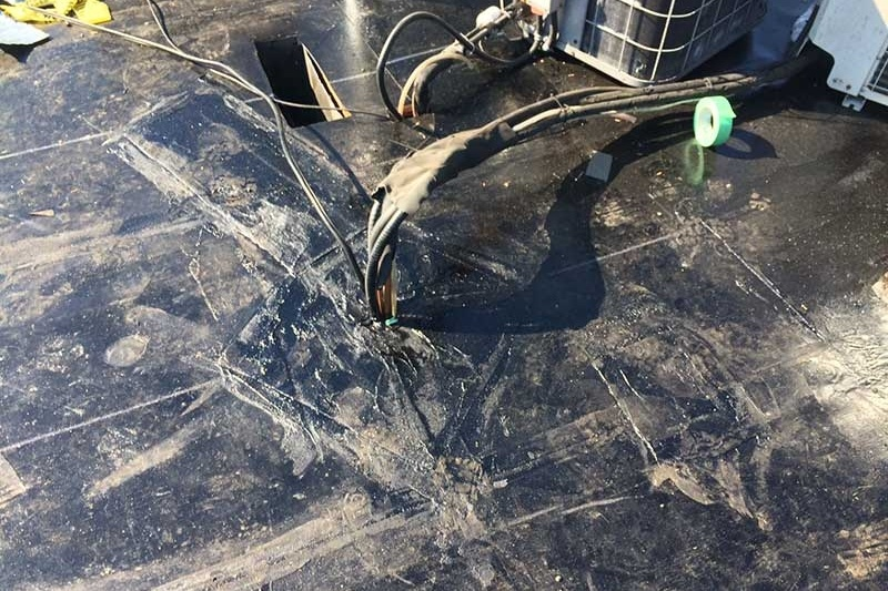 asphalt roof water sealing wires and vents