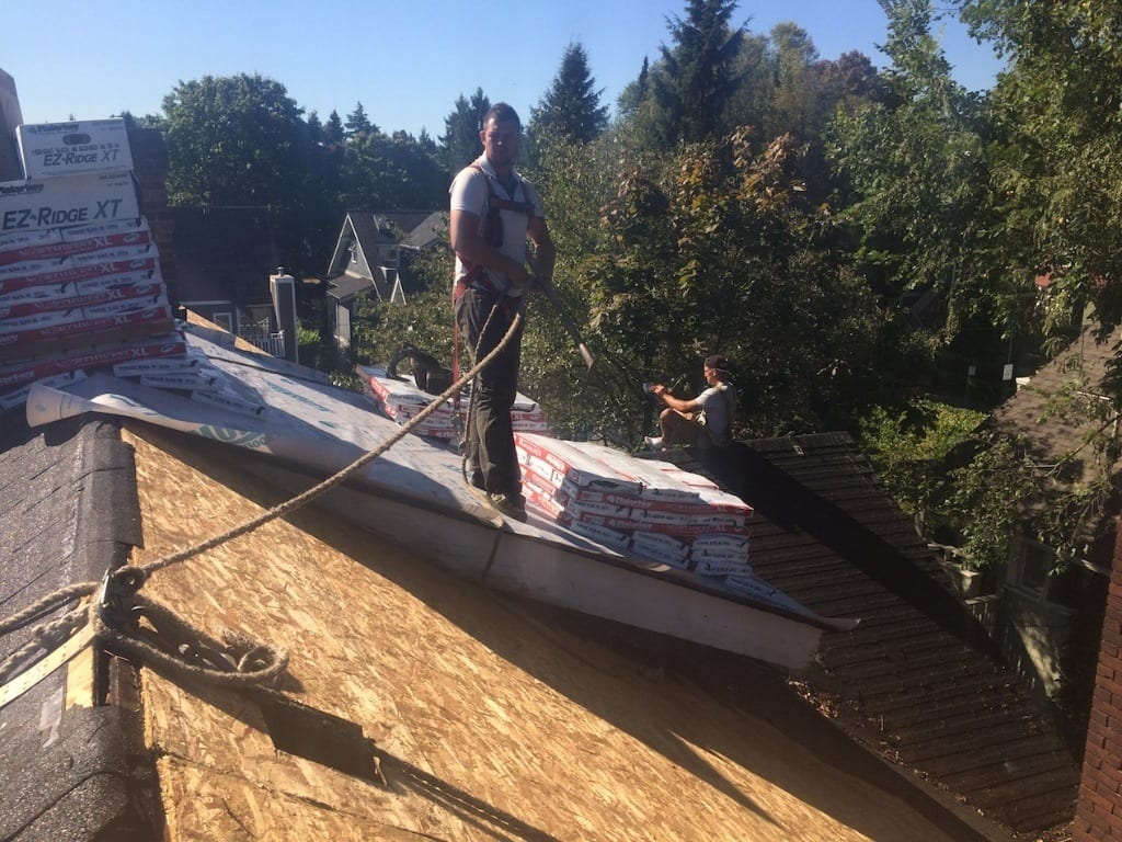 residential steep roof repair