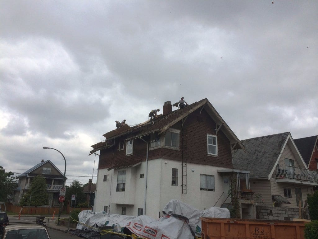 old Vancouver house roof repair