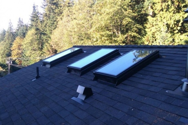 new installed roof skylights