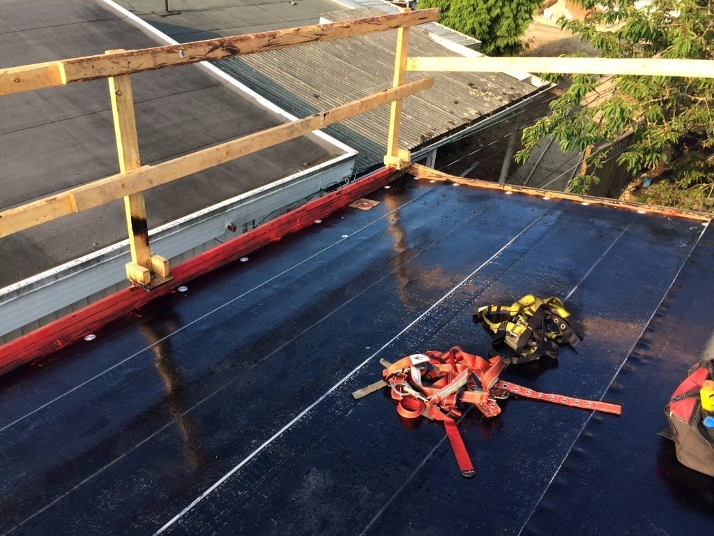 Flat torch on roofers