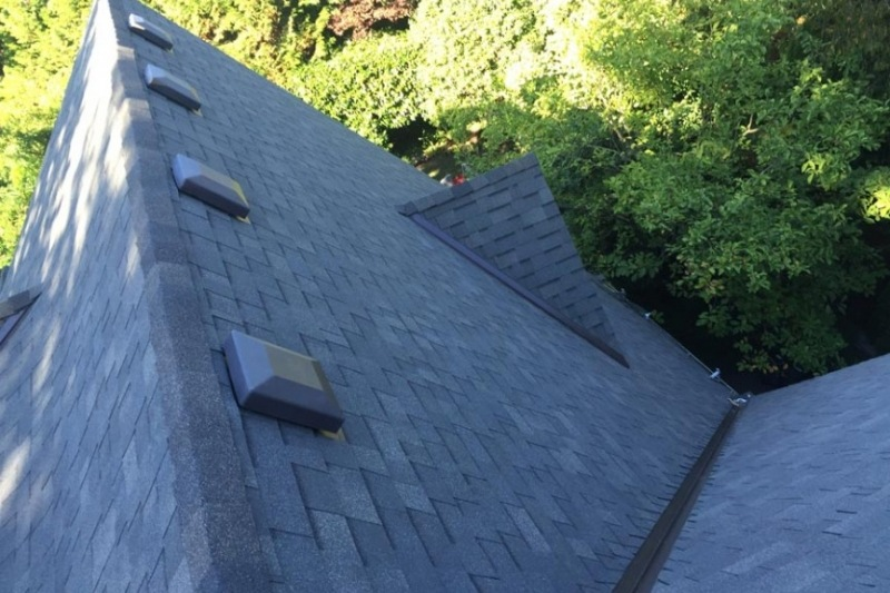 steep slope asphalt roof