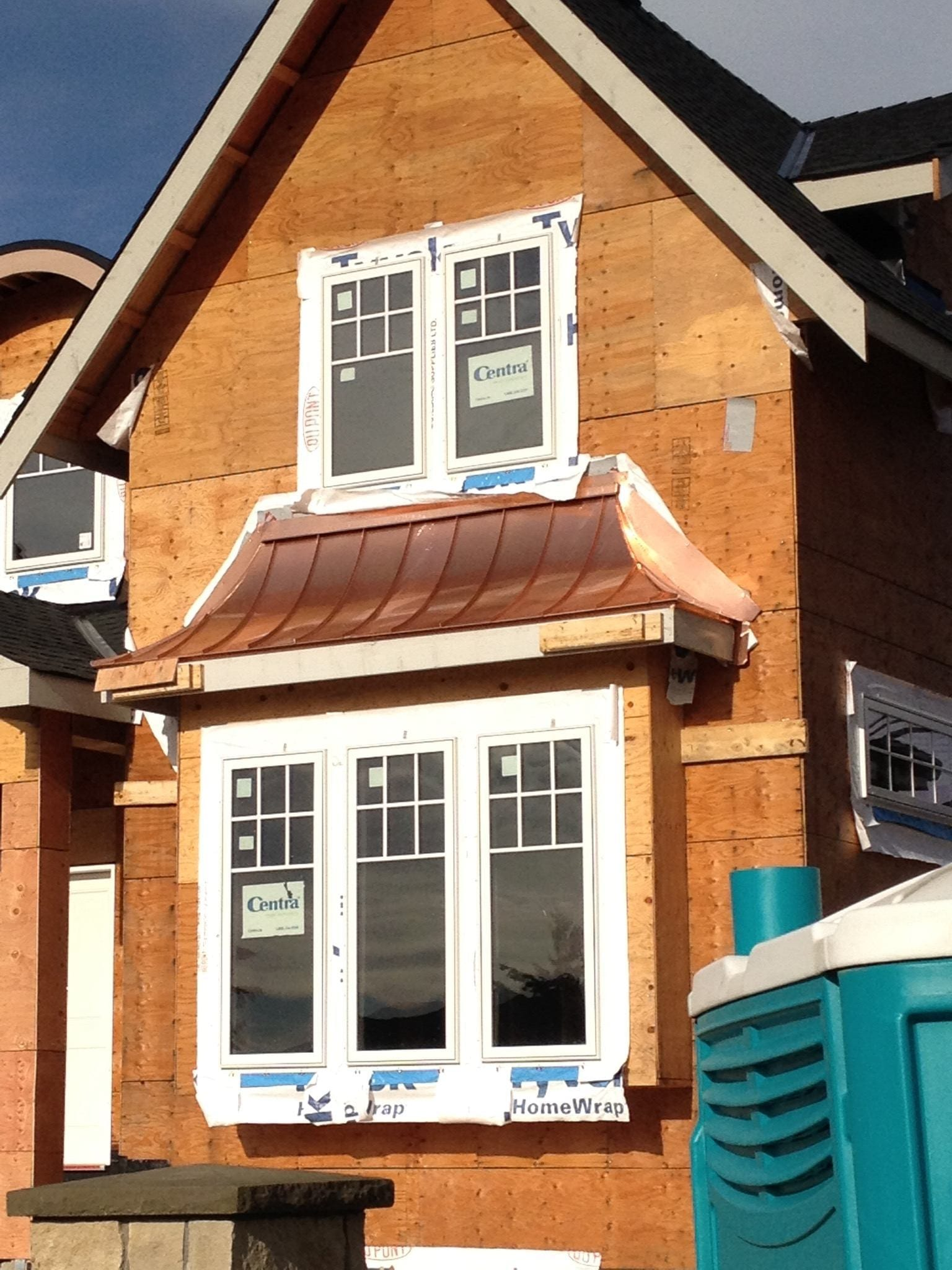 Copper cladding roof