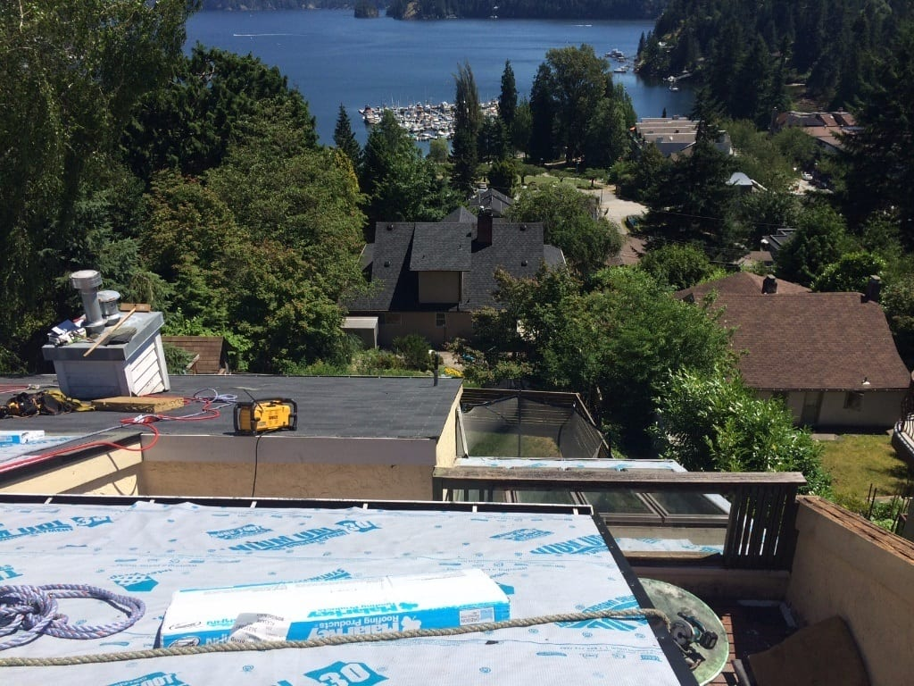 Deep cove roofing project house