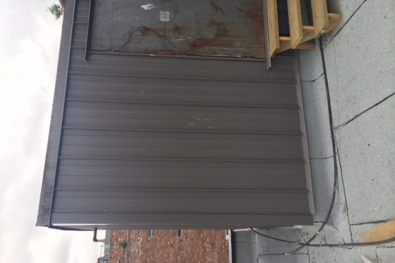 Wall sheet metal cladding