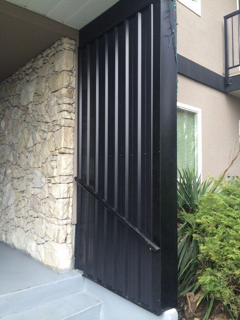Wall metal cladding