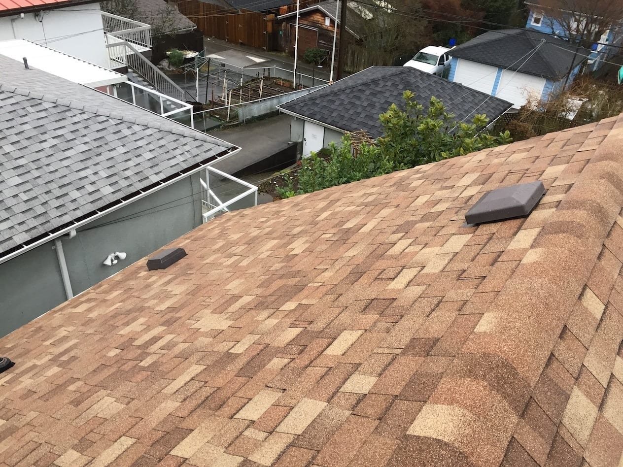 brown shingles roof