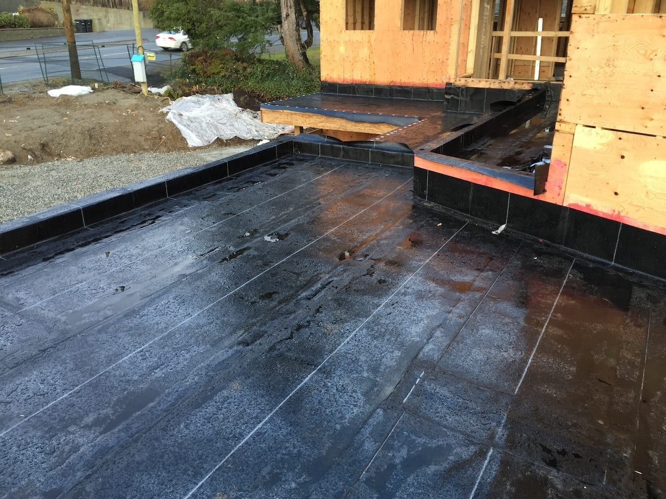 flat torch on roof repair burnaby