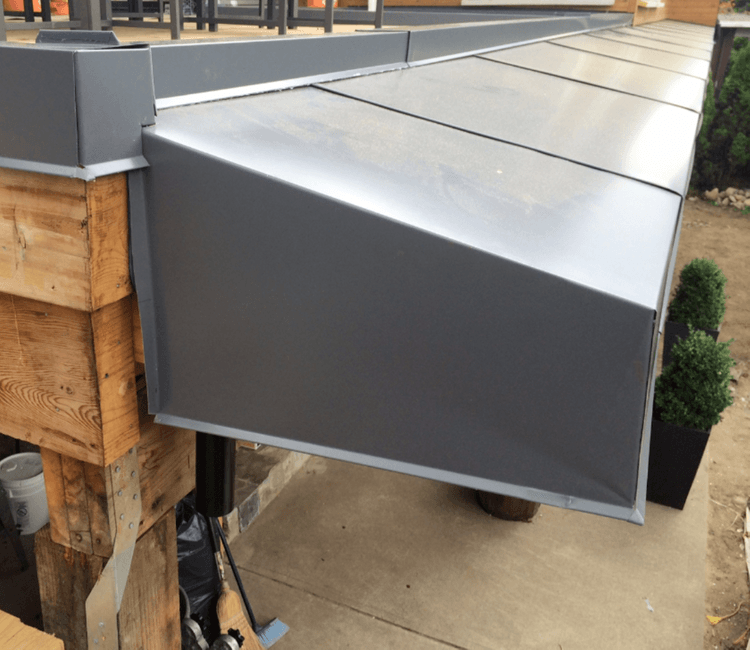 Metal cladding roofing