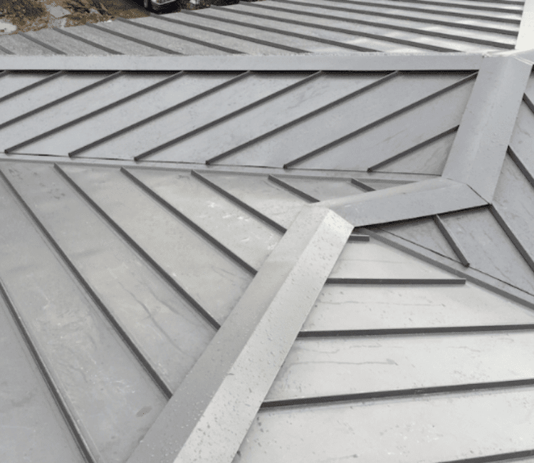 Metal roofing small slope
