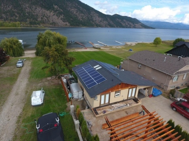 Solar panel roof installation Chase BC