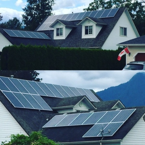 Solar Panels installed on roof BC