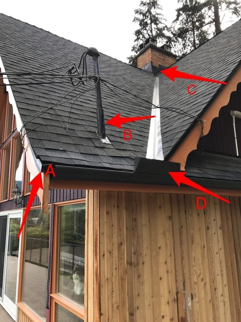 poor roofing job