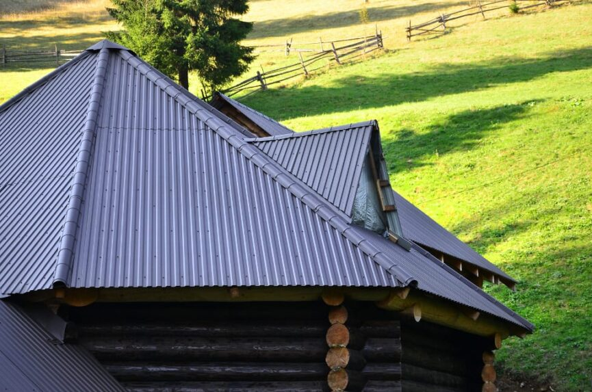 corrugated metal roofing roof install